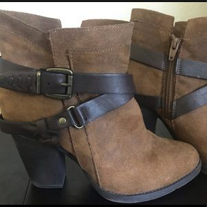 Mossimo Suede Heeled Ankle Boots